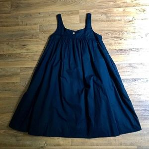 Old Navy Black Cotton Dress With Pockets Babydoll